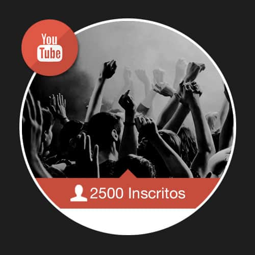 2500 Inscritos no Youtube