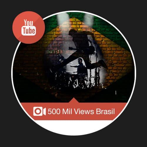 500 mil visualizações brasileiras youtube