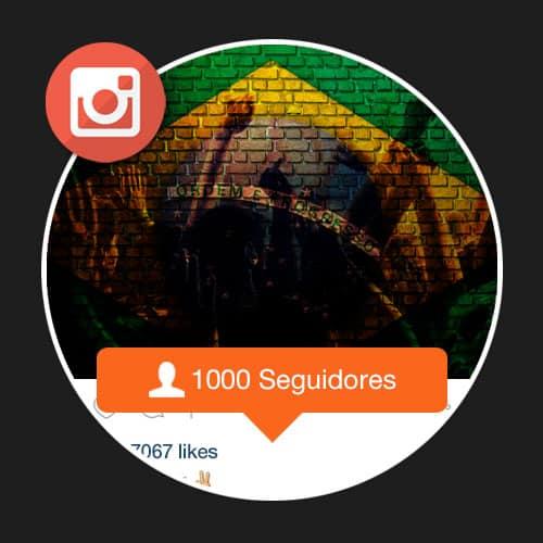 1000 Seguidores Brasileiros Reais no instagram