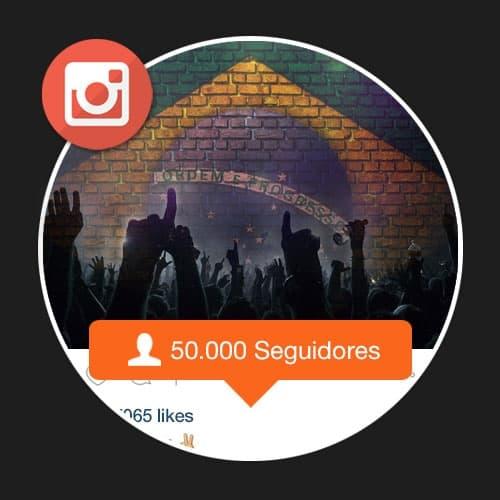 50000 Seguidores Brasileiros Instagram